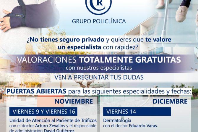 JORNADAS DE PUERTAS ABIERTAS EN GRUPO POLICLÍNICA
