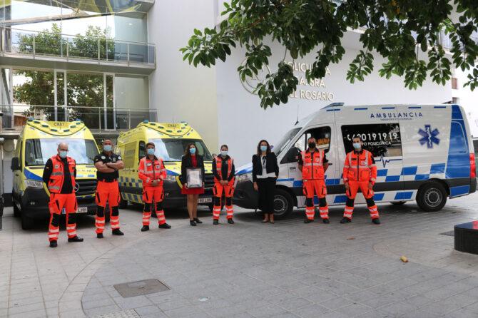 El equipo de Ambulancias del Grupo Policlínica, certificado por AENOR