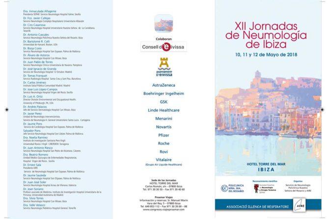 Las XII Jornadas de Neumología de Ibiza reunirán a 250 neumólogos en el Hotel Torre del Mar 1