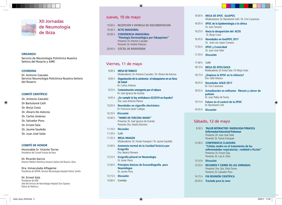 Las XII Jornadas de Neumología de Ibiza reunirán a 250 neumólogos en el Hotel Torre del Mar 3