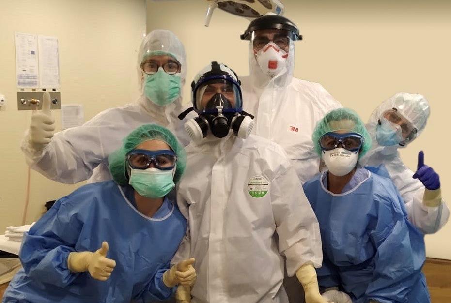 Primeras cirugías a pacientes con covid-19 en la Policlínica Nuestra Señora del Rosario 1